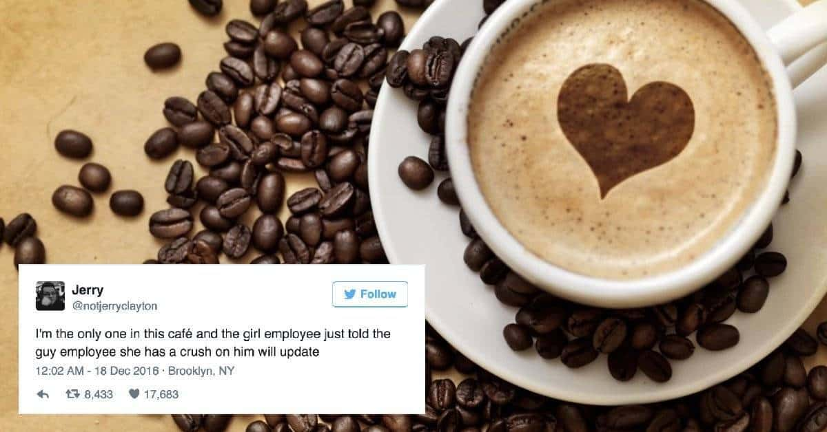 Cafe barista asks out co worker while guy secretly live tweets how to girl guy ask out cafe ccuart Image collections