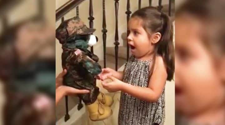 Soldiers Sends 5 Y O Daughter Birthday Gift And Leaves Her Overjoyed Until It Starts To Talk