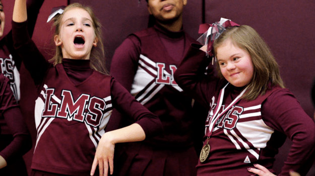 cheerleader with Down syndrome