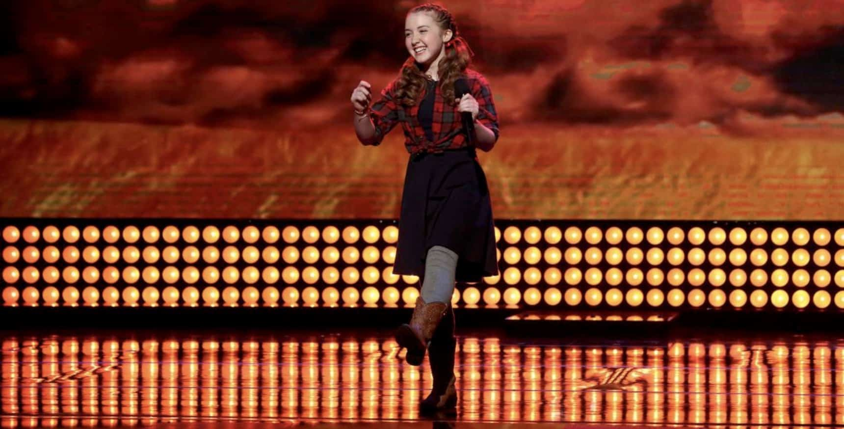 Ezrah Noelle performing a yodelling classic on Little Big Shots with Steve Harvey