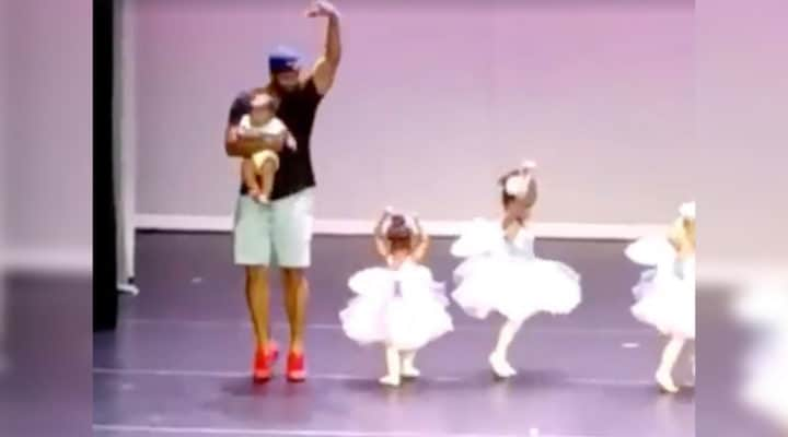 ad4acbaca3c5 Dad s ballet dance to help daughter has melted the hearts of many online