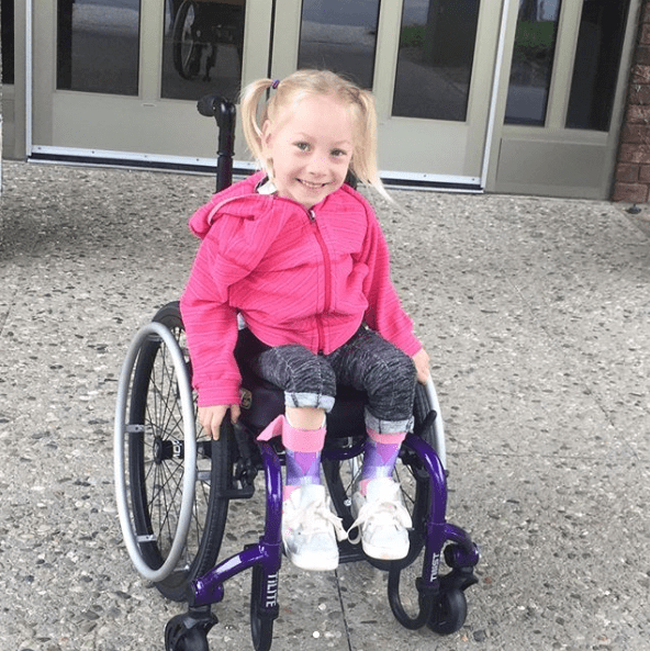 Maya has cerebral palsy