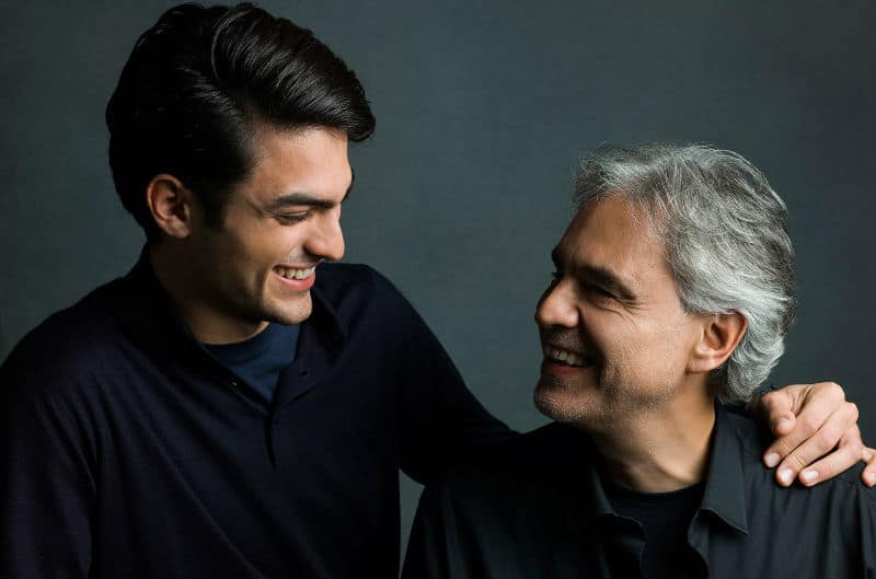 Andrea Bocelli and Matteo