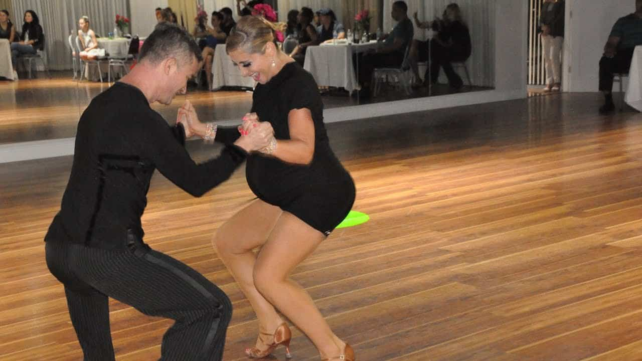pregnant salsa dancer