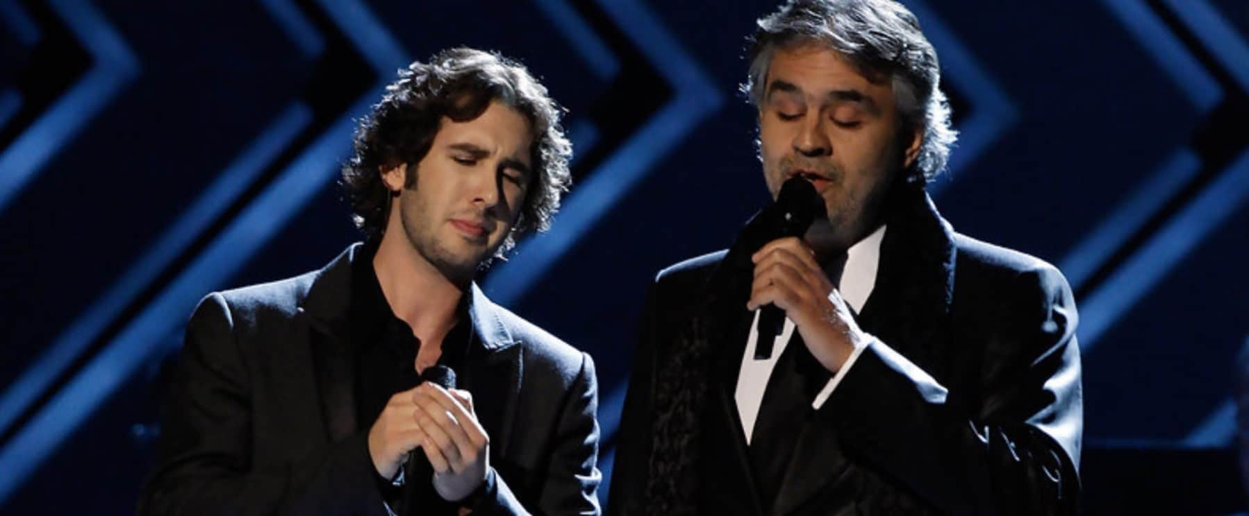 Andrea Bocelli and Josh Groban