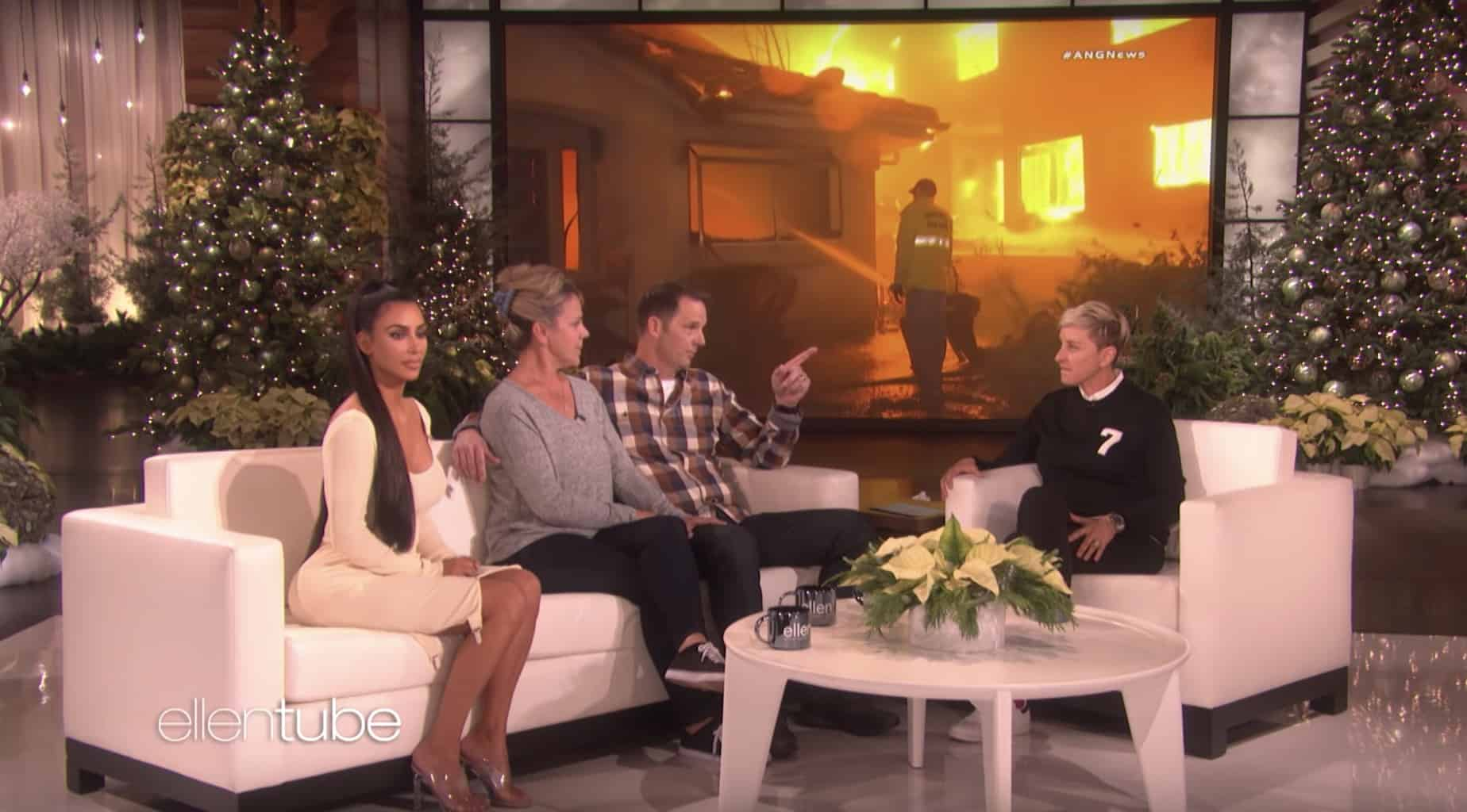 Michael Williams talks to Ellen Degeneres about the California wildfires.