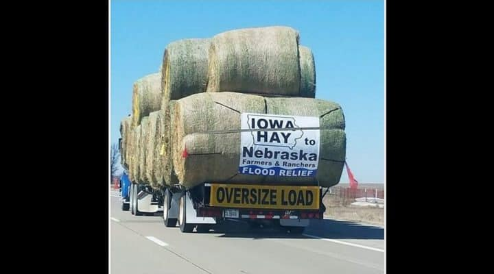 Farmers send hay to those in need after Nebraska floods