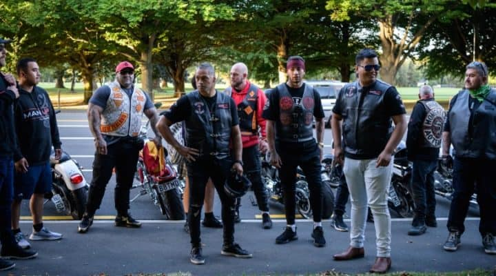 Bikers gather to protect their Muslim compatriots