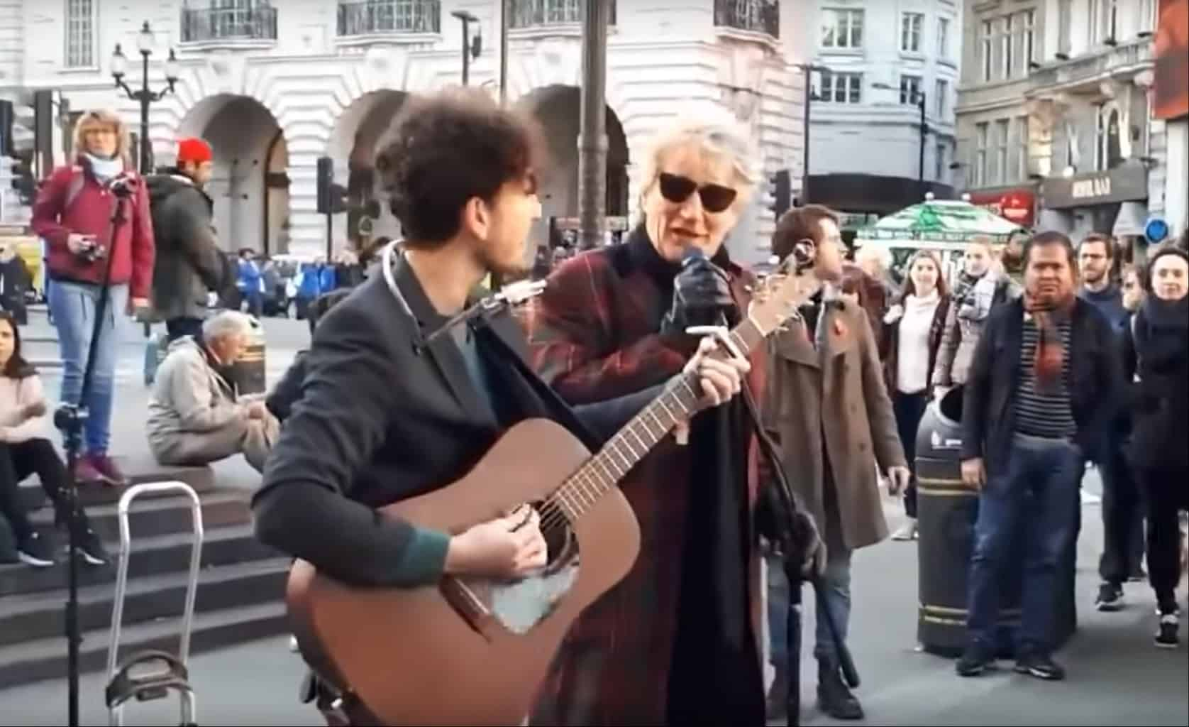 rod stewart street performance