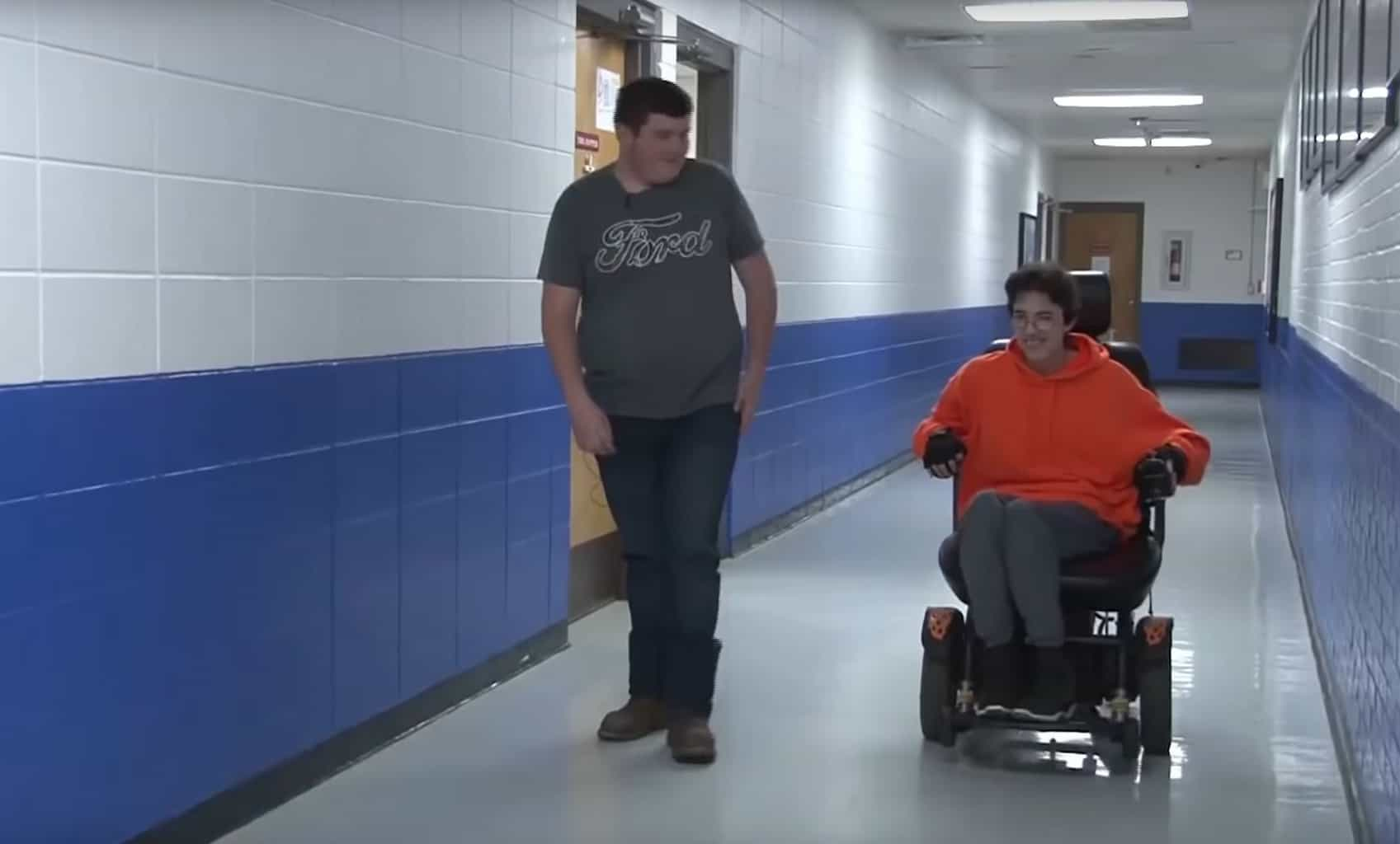 Student buys friend wheelchair