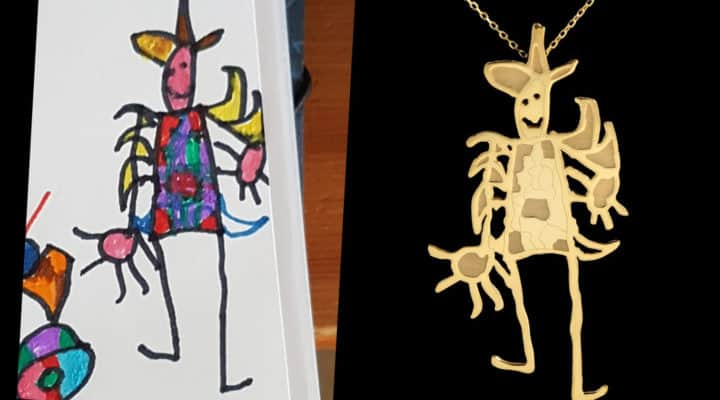 Company turns kids drawings into jewellery
