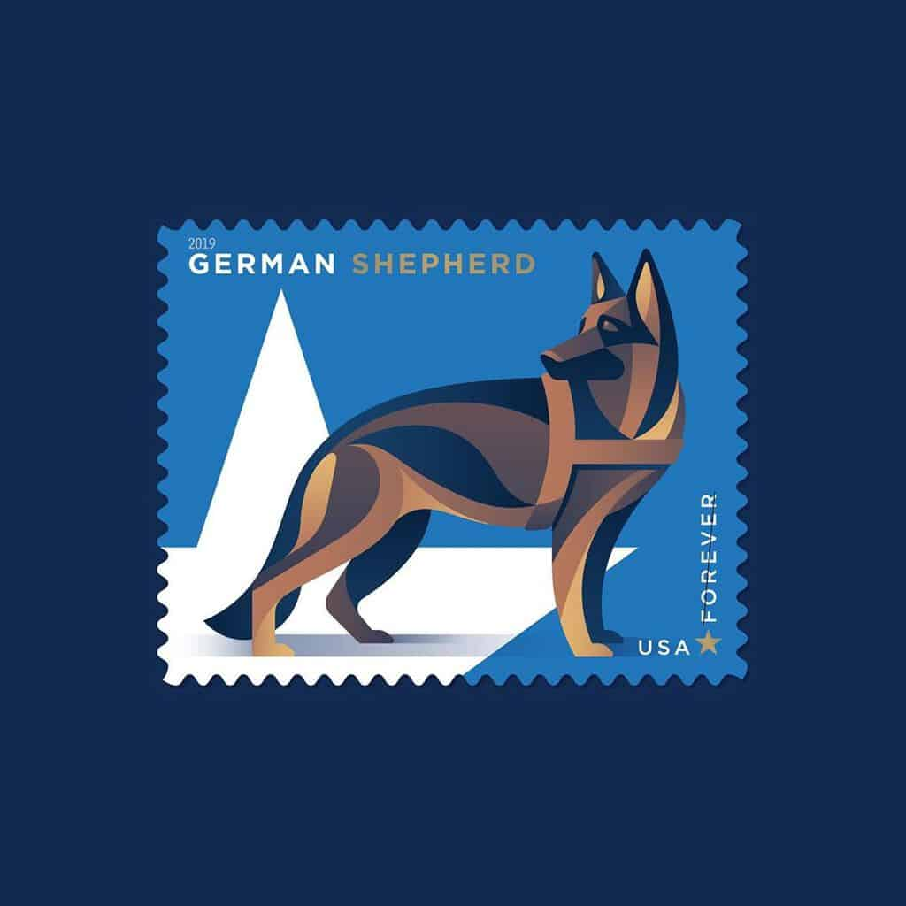military dogs stamp