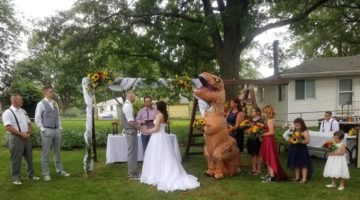 bridesmaid t-rex