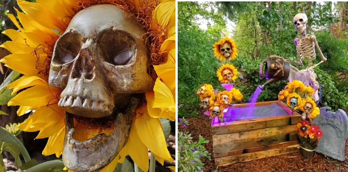These DIY Scary Sunflower Skulls Are Perfect Mix Of Fall And Halloween